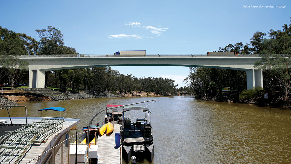 New bridge over the Murray Bridge
