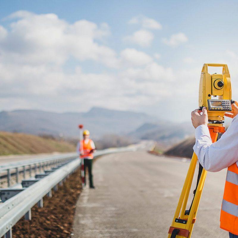 Land survey scaled